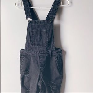 2/$30 Faded black Dollhouse distressed overalls